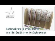 Ordnung im Bastelzimmer: Aufbewahrung von Grußkarten im Stehsammler mit ...
