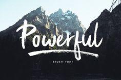 Powerful Brush font