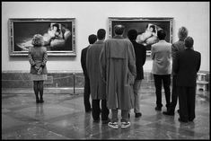 looking at art V ~ Goya's Maja, clothed and unclothed ... in the Museo del Prado, Madrid, photograph by Elliott Erwitt