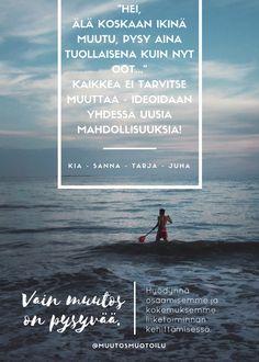Muutosmuotoilijaryhmän Sanna, Tarja, Juha & Kia mainos. Movies, Movie Posters, Art, Art Background, Films, Film Poster, Kunst, Cinema, Movie