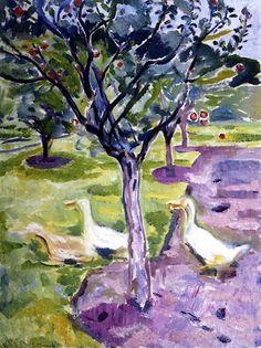 Geese in the Garden Edvard Munch - 1911