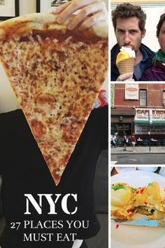 When looking for places you must eat in NYC, you have to be careful to weed out the posers, the pretentious, the attention-seekers. Here are 27 places you must eat at in NYC. New York City Vacation, Visit New York City, New York City Travel, New York Trip, Restaurants In Nyc, New York Eats, New York Food, New York Pizza, New York Essen