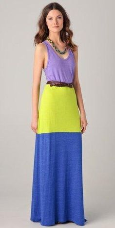 Casual and colorful maxi dress find more women fashion on www.misspool.com