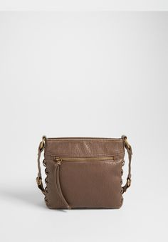 crossbody bag with cross stitched sides (original price, $34.00) available at #Maurices