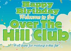Well done for making it this far Our Over the Hill Club members kit contains loads of jokes and funny gifts to help you celebrate a birthday. This Over the Hill kit is full of funny gifts to help celebrate your birthday. Funny Greetings, Funny Greeting Cards, Funny Cards, Funny Birthday Gifts, Birthday Messages, It's Your Birthday, Joke Gifts, Funny Gifts, Over The Hill Gifts