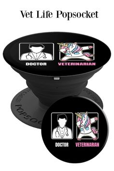 Veterinarian Design Funny Dabbing Unicorn Fun Boring Doctor - PopSockets  Grip and Stand for Phones and 6d36e52542f2