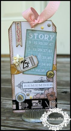 TERESA COLLINS DESIGN TEAM: Summer Stories Tag Embellishment with Stacy Rodriguez