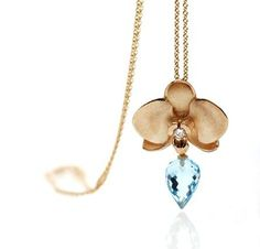 Rubwn Svart - Orchid in gold with brilliants