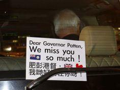 Hong Kong Activists Surround Last British Governor, Reactions – chinaSMACK