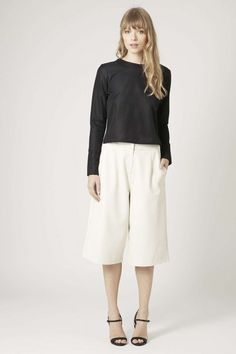 Topshop Faux Leather Culottes | theglitterguide.com