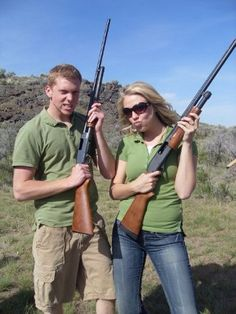 Try out a shooting range so the girl gets comfortable and then you could eventually take her out country style Trap Shooting, Shooting Range, 4 Life, Couple Photography, Country Style, Relationship Goals, Two By Two, Guns, Dating