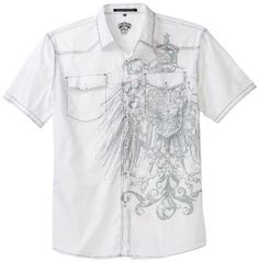 Southpole Men's Big And Tall Winged Button Down Shirt $26.99