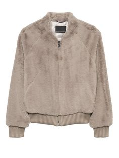 a5188353120 Banana Republic Faux Fur Bomber Jacket in Taupe   Fall Coat   Fall Jacket    Cold Weather   Cold Weather Jacket   Fall 2018   Trends   Jacket Trend    Soft ...