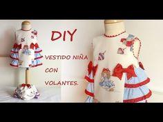 Como hacer un vestido de niña con volantes. Do it yourself. - YouTube