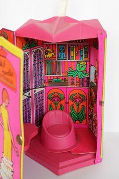 1965 Barbie Amp Skipper School Rare Cardboard Doll Play Set
