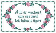 Ant of Sweden Brodeributiken - broderier & korsstygnsmönster