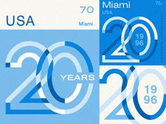 Miami Stamps designed by Andrew Littmann. Connect with them on Dribbble; the global community for designers and creative professionals. 50th Anniversary Logo, Company Anniversary, Typo Logo, Typography, Lettering, Brochure Design, Branding Design, Logo Design, Logos