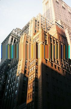 Manhattan glitch: I like this image because it is contemporary. I think the original image and structure is ordered, yet the glitch isn't. Glitch Art, Photomontage, Arte Gcse, Photoshop, Oeuvre D'art, Photo Manipulation, Manhattan, Art Photography, Distortion Photography