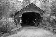 Photographs of Vermont by John David Geery. Covered bridge built 1840, Weathersfield VT.