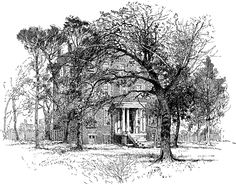 Duncan Lodge - Love the hatching of the trees!