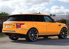 Sun Yellow Range Rover