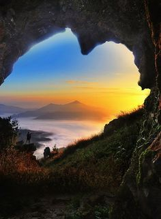 Cave Of Hearts - misty mountainscape, Doi Pha Tang, Chiang Rai, Thailand by Anuchit
