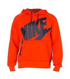 NIKE CLOTHING MENS NIKE ACE LOG EXP POP PULLOVER HOODIE Orange