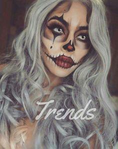 Halloween Diy, Halloween Costumes With Makeup, Halloween Pumpkin Makeup, Circus Halloween Costumes, Scarecrow Makeup, Halloween Scarecrow, Halloween Face Makeup, Scary Makeup, Halloween Inspo
