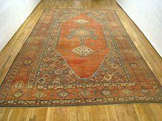 "Persian: Geometric 18' 0"" x 11' 4"" Antique Serapi Bakshaish at Persian Gallery New York - Antique Decorative Carpets & Period Tapestries"