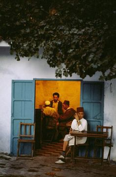 Chefchaouen In Rif mountains A cafe 1972