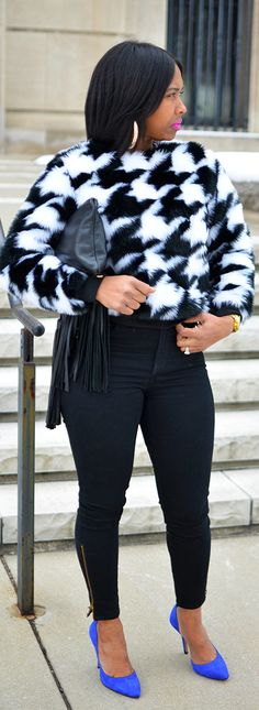 Winter Outfit Idea, Houndstooth