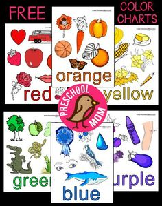 Free Color Chart Preschool Printables from Preschool Mom