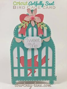 Close To My Heart Artfully Sent Cricut cartridge Bird Cage card #Cricut