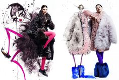 fashion editorials, shows, campaigns & more!: double double: kelly mittendorf by chris nicholls for fashion canada november 2014 Chris Nicholls, Zeina, Jamie Lee, Amazing Pics, Fashion Sketches, Editorial Fashion, Cool Style, Fur Coat, Fashion Photography