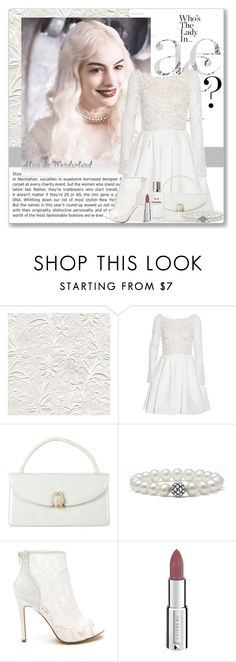 """""""White queen from Alice in Wonderland"""" by mayyabu ❤ liked on Polyvore featuring Rime Arodaky, Judith Leiber, Lagos, Givenchy and Chanel"""