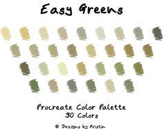 Palette Art, Design Palette, Green Colour Palette, Green Colors, Color Palettes, Copic Color Chart, Colour Chart, Earth Tone Colors, Ipad Art