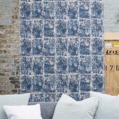 saru - indigo wallpaper | Designers Guild