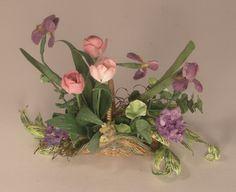 Floral Arrangement in Basket#3 by Marie Petrik