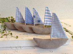 5 Segelboote - Schiff Ahoi ! von Steinhoff-Design auf DaWanda.com