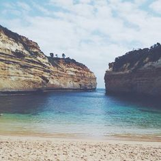 a special little cove at loch ard gorge. #greatoceanroad // #australia #travel #beach #great #ocean #road #roadtrip #sand #sea #sky #color #thegreatoceanroad #victoria #vscocam #vsco #blue #shades #lochardgorge #traveling by annasilvo