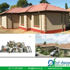 New Development in Pretoria West ,Build by First Choice Realty CC. The Orchards!!  Wide variety of additional optional extras available to give you the client the opportunity to customize your house Click here for more photo's: http://besociable.link/37 Visit our website: http://besociable.link/4g #PretoriaWest #affordablehousing #property