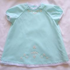 Darling heirloom style baby dress with embroidery