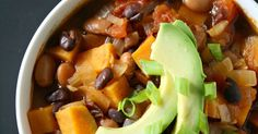 One of my favorite chilis! EASY and hearty sweet potato and black bean chili - full of warm, comforting flavor (vegan, gluten-free)