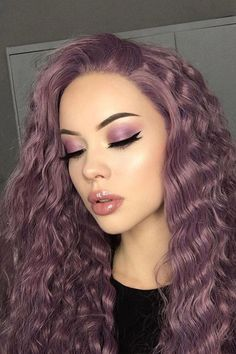 A perfect look💖Do you like the mysterious and romantic purple? #thehaircolor