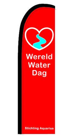Ontwerp vlag Oude Rijn Schoon 50 cm bij 175 cm op voet, uiteindelijke hoogte 2,5 m