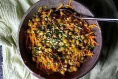 carrot salad with lemon and tahini