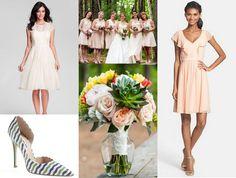 Jenny Yoo blush bridesmaids dresses  The Wedding Suite