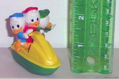 Huey Duey & Louie Disney McDonald's 1988 Duck Tales II Plastic Figure Toy Loose