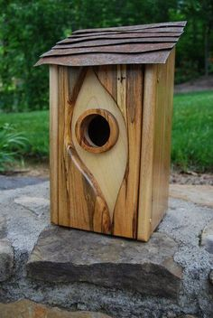 Really Cool Birdhouse. I want to make these.