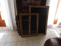 blackboards /glass frames for menu boards or signs